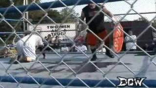 dcw hellaware assassin vs axl rotten dcw hardcore championship cage match part 3