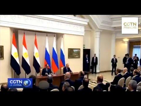Sotchi : La Russie et l'Égypte signent un accord de coopération stratégique