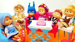 FESTA DI COMPLEANNO DI ANNA CON MASHA E ORSO - Una sorpresa per Orso , che incubo , video con Barbie