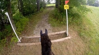 [HORSE'S FIRST SHOW!] Glen Oro HT 2017 Entry Cross Country Helmet Cam