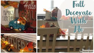 Fall Decorate With Me!