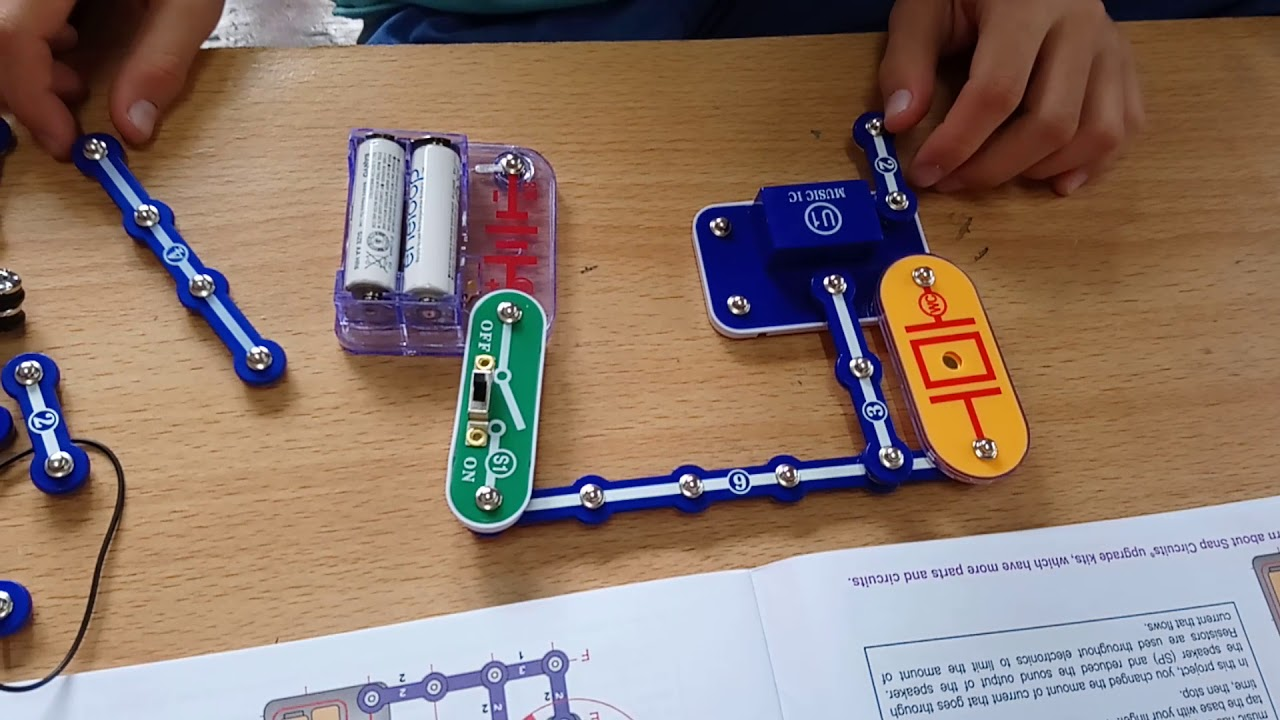 Electric Snap Circuits Adjusting Sound Level Youtube