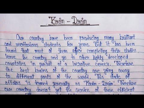 Brain drain essay example write a screenplay in 30 days