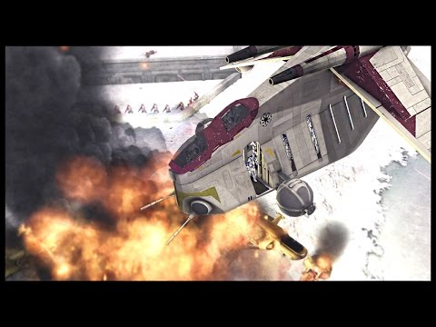 Clone LAAT Air Support - Defense of Rhen Var | Men of War Assault Squad 2 Star Wars Mod Gameplay