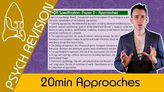 Approaches- AQA Psychology UNDER 20 MINS! Quick Revision for Paper 2