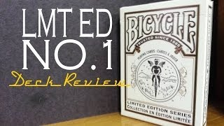 Limited Edition No.1 - Bicycle USPCC - PLaying Cards Deck Review