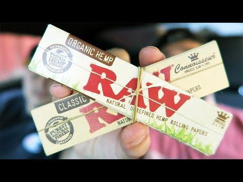 Classic RAW VS. Organic Hemp RAW (RAW Rolling Paper Comparison) #RAWLife