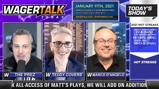 Daily Free Sports Picks | National Championship Preview and NFL Recap on WagerTalk Today | Jan 11