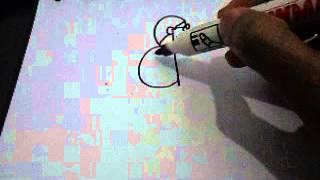Menggambar kreatif dokter dari huruf d