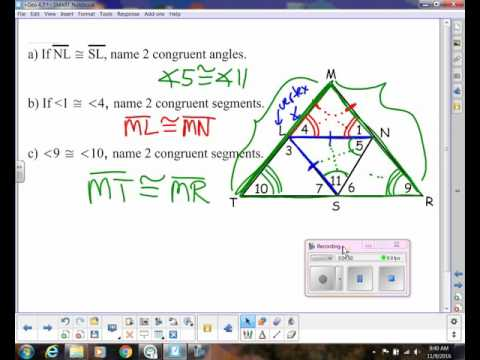 Base Angles Theorem Youtube