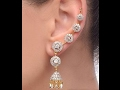 AMERICAN DIAMOND EARCUFF , ROUND TEXTURED CIRCLES EARCUFF , DIAMOND JEWELLERY
