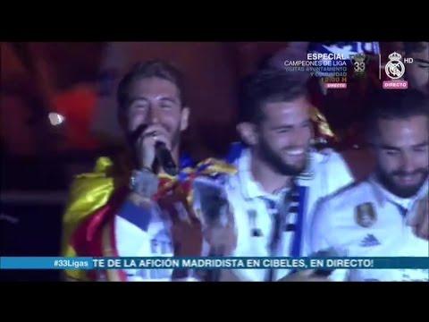 """""""¡Piqué, Cabrón, Saluda al Campeón!"""" Cibeles Liga 2017 Real Madrid"""