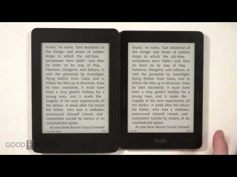 Amazon Kindle Voyage vs Paperwhite 3 Comparison Video
