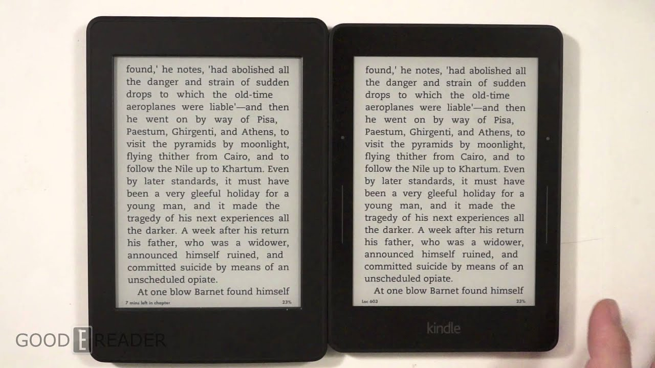 Kindle Vs Sony Reader: Amazon Kindle Voyage Vs Paperwhite 3 Comparison Video