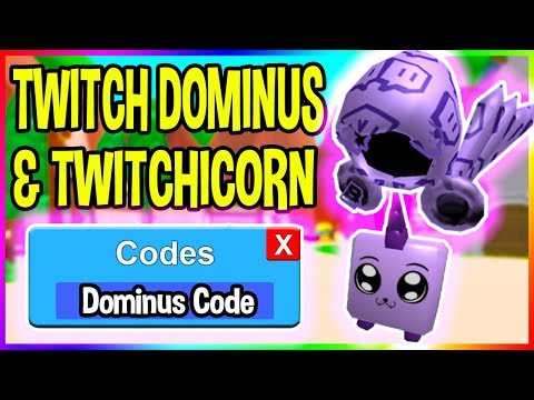 TWITCH DOMINUS AND TWITCHICORN CODES IN ROBLOX MINING SIMULATOR!
