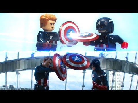 Avengers Endgame Captain America VS Captain America Lego Stop Motion Side By Side Comparison