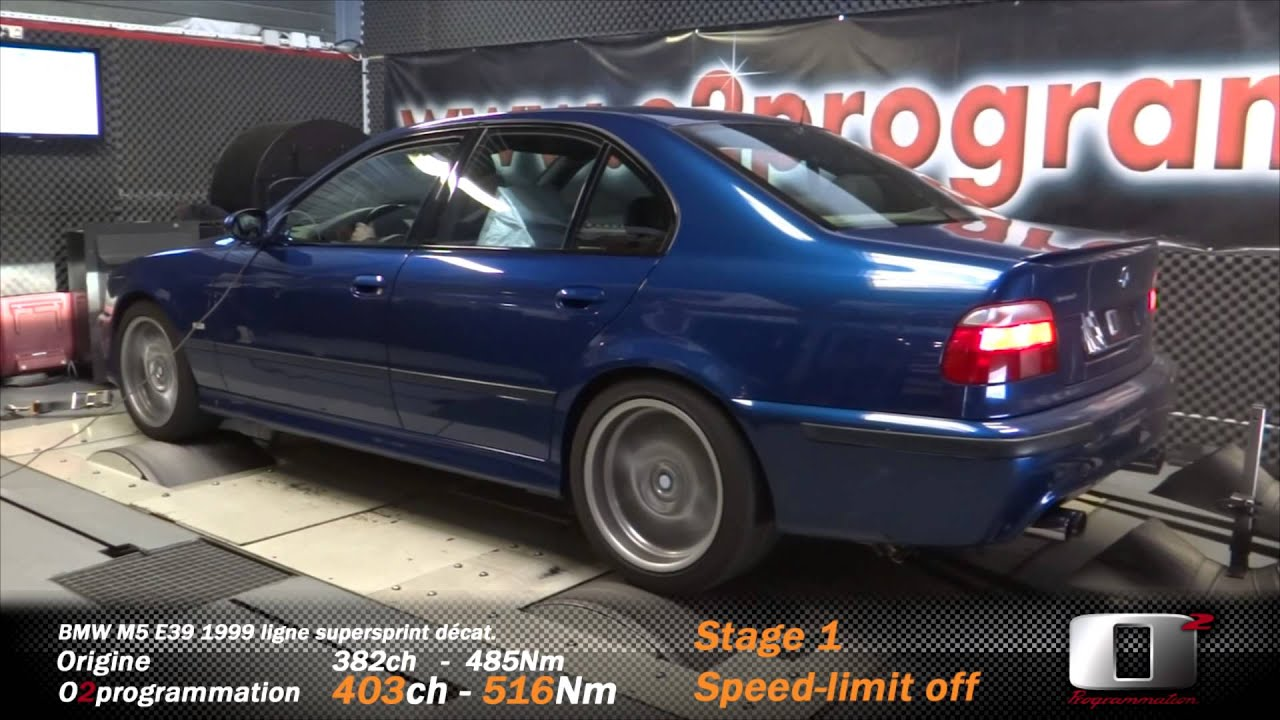 bmw m5 e39 382 403ch speed limit off reprogrammation moteur stage 1 youtube. Black Bedroom Furniture Sets. Home Design Ideas