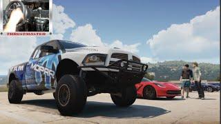 Forza Horizon 2 Lets Play Ep5 Ram Runner Build w/Thrustmaster Wheel Cam (XB1)