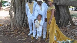 Wedding of Mr. and Mrs. Simmons in Bermuda featuring ethnic bridal attire by TeKay Designs Thumbnail