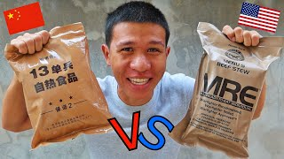 MRE ทหารอเมริกา vs MRE ทหารจีน | US Military MRE vs Chinese Military MRE