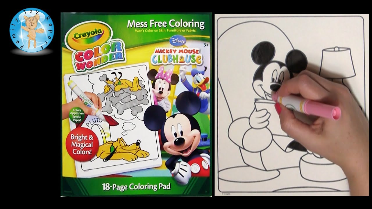 Crayola Color Wonder Mickey Mouse Clubhouse Coloring Book Reading