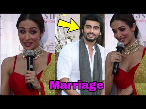 Finally ! Malaika Arora confirms marriage with Arjun Kapoor in public !