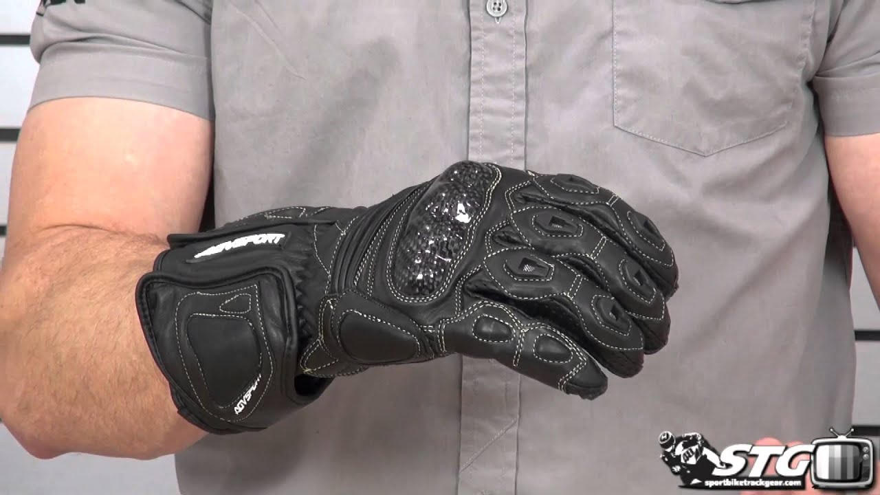 Leather gauntlet driving gloves - Agv Sport Laguna Full Gauntlet Glove Review From Sportbiketrackgear Com