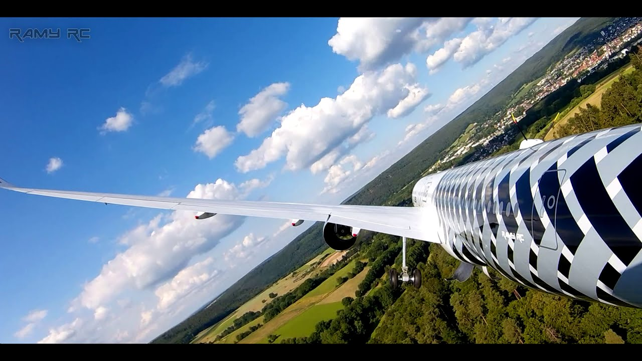 RC AIRBUS A350-900 XWB Full flight onboard cam/ Raw footage