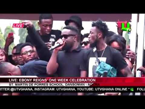 Sarkodie's emotional speech at Ebony's 1 week celebration