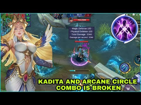 KADITA BEST SPELL IS ARCANE CIRCLE BEST COMBO | MOBILE LEGENDS