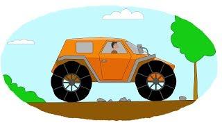 Мультик - Раскраска. Учим Цвета - Мультфильмы про машины - Вездеходы - Часть 2(Смотрите первую часть про вездеходы! https://www.youtube.com/watch?v=eHU_VzCmYvY&index=3&list=PLYjQr8vff1Jxng5dMRW9tb2eTlN_u4vJG., 2014-07-10T07:41:33.000Z)
