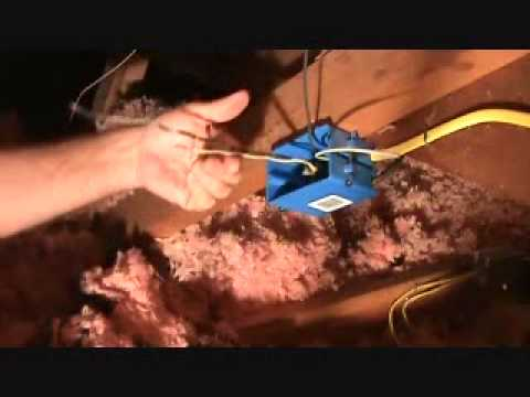 how to wire a junction box in an attic part 1 youtube rh youtube com Splicing Electrical Wires Junction Box Splice Junction Box