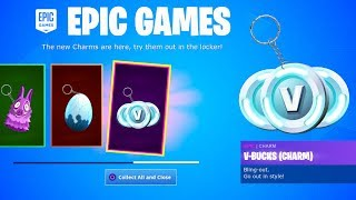 Collect your FREE CHARMS in Fortnite! *NEW ITEMS*