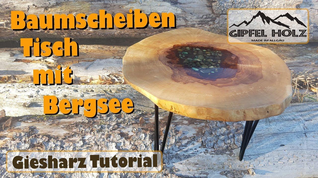 Einen Epoxy Giesharz Beistelltisch Selber Bauen Power Carving