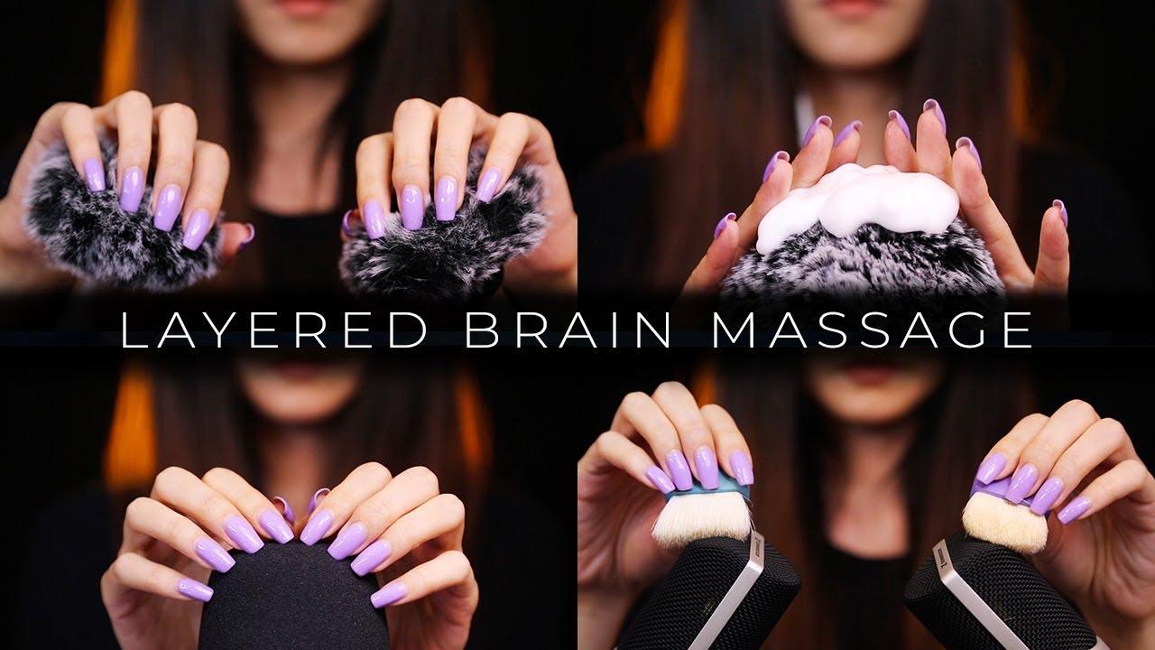 ASMR Hypnotizing Layered Brain Massage (No Talking)