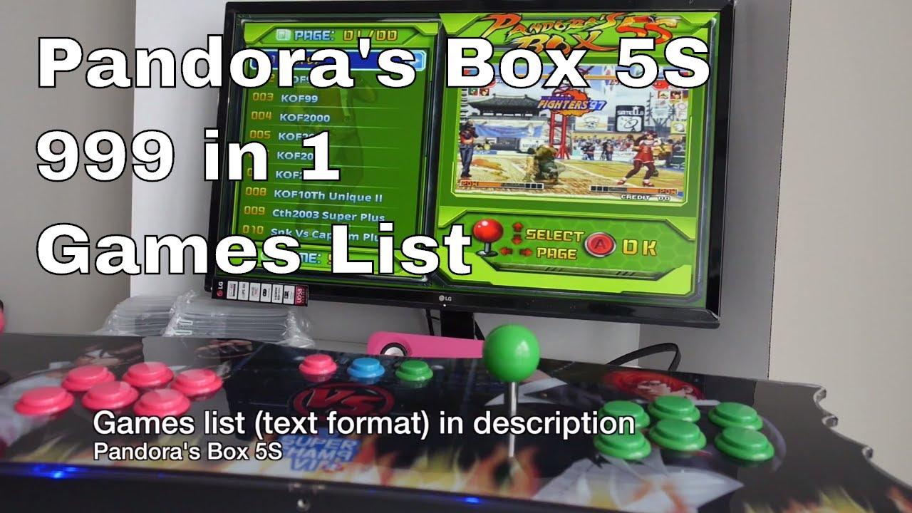 lista giochi pandora 4s
