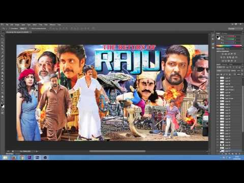 The Return Of Raju Hindi Dubbed Movie Poster How its made ?