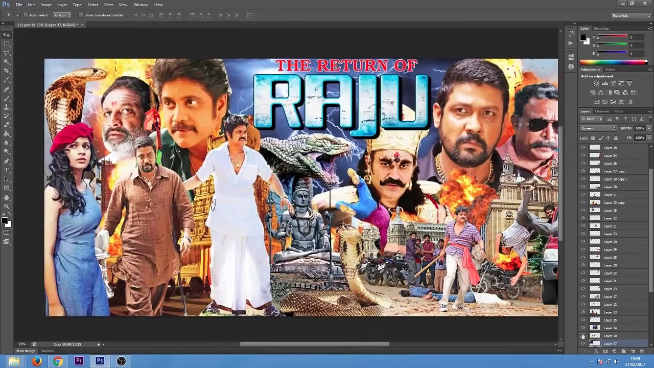 Download The Return Of Raju Hindi Dubbed Movie Poster How its made ?