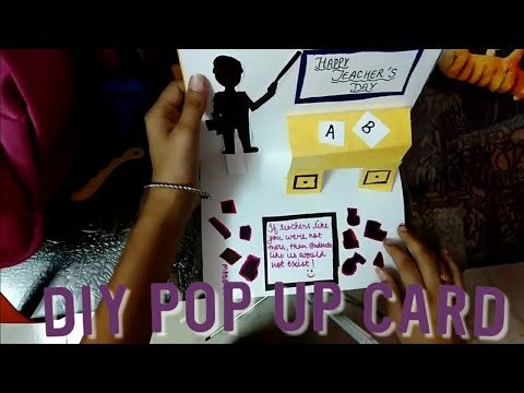 HOW TO MAKE A POP UP CARD FOR TEACHERS'DAY| VERY EASY DIY| Ishita Mogha