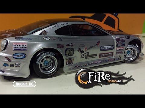 Fire Brand Rc Drift Car Decals Added To Rockitrc S Sedan Body