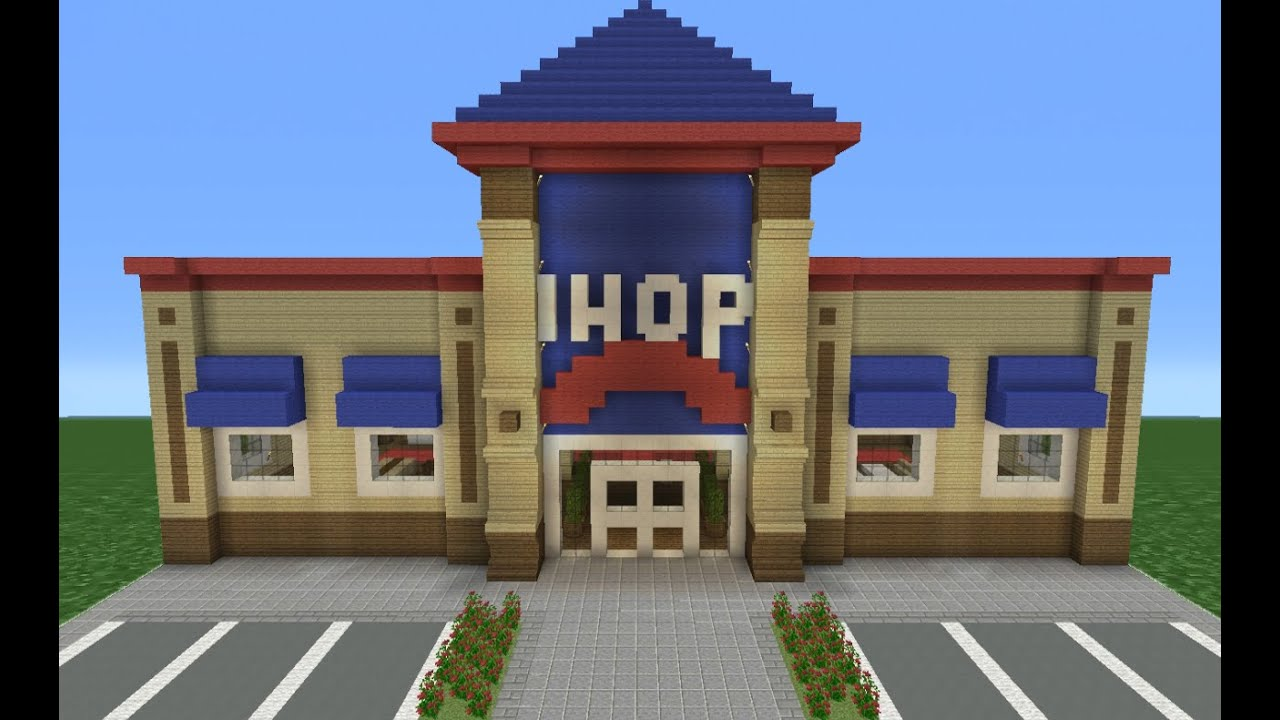 Minecraft tutorial how to make an ihop restaurant youtube for Classic house tutorial
