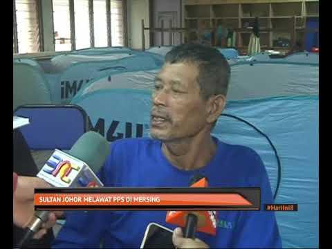 Sultan Johor melawat PPS di Mersing