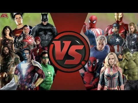 MCU Avengers vs DCEU Justice League TOTAL WAR! Cartoon Fight Club FAN EPISODE!