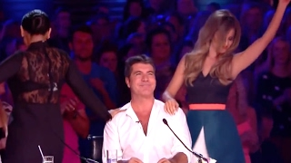 When The Female Judges Messing With Simon