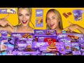 ASMR MILKA CHOCOLATE PARTY ONE COLOR FOOD CHALLENGE By QWE girls