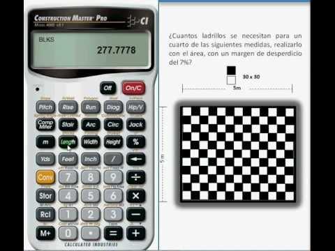 Ladrillos calcular la cantidad de ladrillos con la calculadora construction master pro youtube - Medidas de ladrillos comunes ...