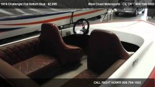 1974 Challenger Flat Bottom Boat  - For Sale In Redlands, Ca 92374