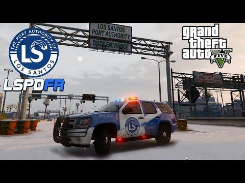 GTA 5 LSPDFR -  Port Authority - Harbor Patrol