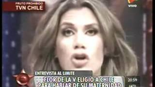 FLORENCIA DE LA V -  POLÉMICA ENTREVISTA EN CHILE