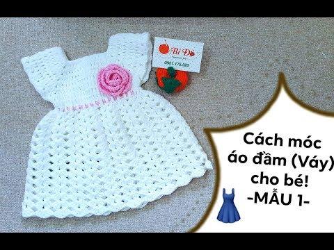 Hướng Dẫn Móc áo đầm (Váy) Cho Bé 3.6 Tháng Họa Tiết Sò (Mẫu1) - Bí Đỏ Handmade Shop